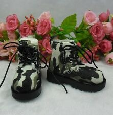 MSD DOC 1/4 Bjd Sasha  Obitsu 60cm Doll Boots High Hill Shoes Camouflage Green