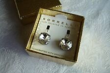 Sorrelli Large Round Clear Crystal Drop Earrings Swarovski NEW