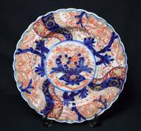 Antique Japanese Edo Period Porcelain Plate Arita Ware