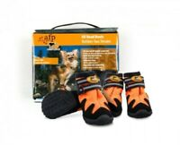 All for Paws Outdoor Dog Shoes Boots All Weather Protection Orange Size XS
