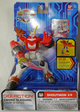 Bandai Digimon Digi Fusion Shoutmon X4 Deluxe Action Figure Brand New