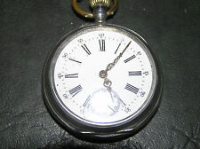 ANTIQUE POCKET WATCH  800 SILVER WITH CHAIN.