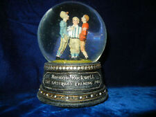Norman Rockwell * The Coin Toss * Waterglobe / Snowglobe Music Box * Rare *