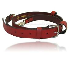 Boston Leather 6543XL X-Long Fireman's Radio Strap  ** RED Leather **
