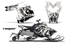 Sled Graphics Kit Decal Sticker Wrap For Polaris Pro RMK Rush 11-16 REAPER WHITE