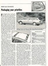 1992 BMW 525i Touring Wagon - Original Car Print Article J231