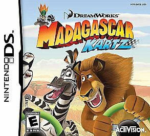 Madagascar Kartz complete in case w/ manual Nintendo DS - inc case and manual