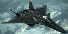 CFA-44 Nosferatu Ace Combat 6 Aircraft Desktop Kiln Dry Wood Model Small