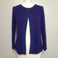 EAST (Medium UK 12-14) Purple Cover Up Cardigan Wool Cashmere Coatigan