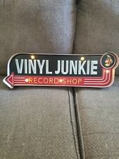 Bey-Berk Vinyl Junkie Record Shop LED Sign