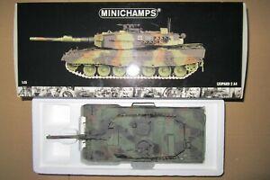 Minichamps Leopard 2 A4 Panzer 350011001 Modell 4. PZBTL 24 Maßstab 1:35