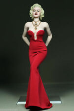 """Women Red Dress Clothes 1/6 Scale Marilyn Monroe Clothing F 12"""" PH Figure"""