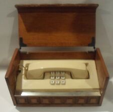 Vintage Western Electric Push Button Phone in wood box - As Is, untested
