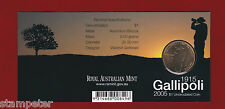 2005 Gallipoli $1 uncirculated coin - 'B' Brisbane Mint Mark