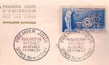1957 - FDC 1°JOUR**MANUFACTURE DE SEVRES/OBL.SEVRES**TIMBRE Y/T 1094