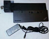 Lenovo Thinkpad T440 T450 T460 T540 W540 Docking Station 40A2 DVI USB3.0 HDMI AC
