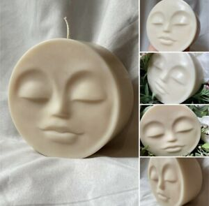 Sale Standing Moon face Candle, Ivory ( Fragrance Free)