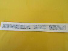 Schriftzug Emblem OMEGA 2.0 16V chrom hinten Omega B ORIGINAL OPEL 176583