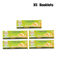 5X HORNET 78MM Fruit Melon Flavored Cigarette Rolling Paper 50 Papers Per Pack