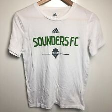 Adidas T-Shirt Youth M White Seattle Sounders FC Soccer MLS