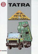 Tatra Prospekt T 815-2 S1 S3 28.210 6x6.2 deutsch LKWs truck brochure Broschüre