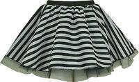 Cyber Tutu Prisoner Convict Girl Fancy Dress Hen Party Black & White SKIRT UK