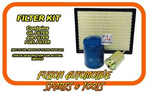 Oil Air Fuel Filter Service Kit for HOLDEN Statesman WH WK WL 5.7L LS1 99-06