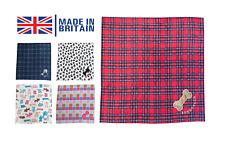 Personalised Dog Blanket Pet Cat Embroidered Fleece Handmade Tartan Pattern UK