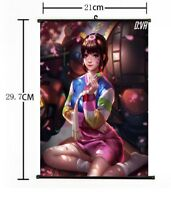 "Hot Anime Blizzard Game Overwatch D.VA Home Decor Poster Wall Scroll 8""×12""FL840"