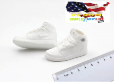 "1/6 men white sneakers shoes basketball air for 12"" figure hot toys phicen ❶USA❶"