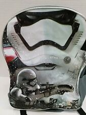 Wht Disney Star Wars full sz Storm Trooper Sparkle Backpack Book Bag 16x12x5 NWT