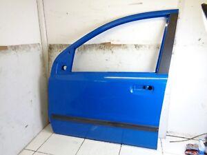 2004-2011 FIAT PANDA 5DR  PASSENGER LEFT SIDE FRONT BARE DOOR IN LIGHT BLUE