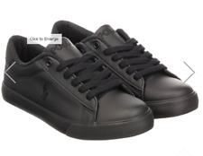 Polo Ralph Lauren Black Leather Trainers UK 5 US 5.5 EU 38 REF 900^