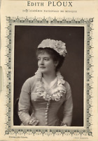 Goupil, Mme Edith Ploux de l'Académie Nationale de Musique Vintage print.