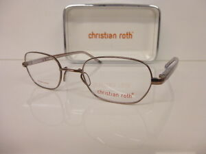 Original Titan-Kunststoffbrille Women's Glasses Christian Roth, Cr 14052 Br 46