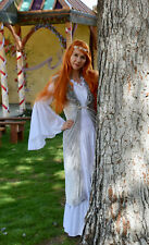 Renaissance Fantasy Medieval White Chemise Long Sleeve Costume Gown Sz S Tunic