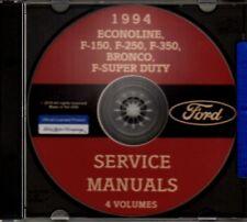 FORD 1994 Bronco, Econoline, F150-F350 & Super Duty Pick Up Truck Shop Manual CD