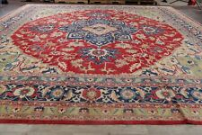 PALACE 16 ft Square VEGETABLE DYE Geometric Super Kazak Wool Rug Hand-made 16x16