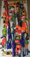 Large Lot of (15+) NERF Guns Darts Clips & Accessories Long Shot, Battery Power
