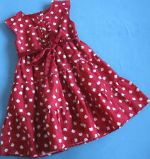 """Rotes Sommer-Kleidchen (ungefüttert) """"Motiv: Hello Kitty"""" von H&M in Größe 116"""