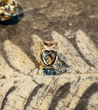 Authentic Pandora 14K 585 Yellow Gold Open Heart Spacer Charm ALE Retired