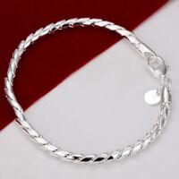 ASAMO Damen Herren Armband 925 Sterling Silber plattiert A1210