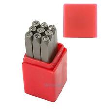 9pcs Punctuation Stamp Case Set Punches Metal Tool for Jewelry Leather Craft 4mm