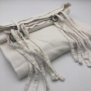 New Odorie Linen Viscose Tie Top Curtain White 250cm SINGLE Free Postage