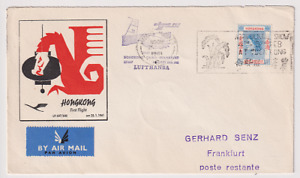 HONG KONG  1961: FFC to Germany LUFTHANSA · excellent condition