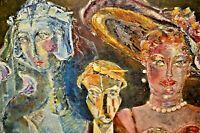 CHANTAL Original Fashion Figure Modern Abstract Woman Lady Portrait Oil Painting