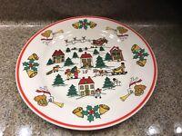 "JOY of CHRISTMAS Jamestown China 7.5"" SALAD PLATE Holiday Dinnerware"