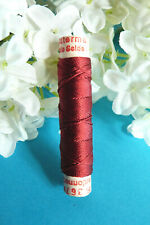 "1116BBIS / Superb Coil Drawstring Silk Gutermann "" Red Carmine "" N° 367"