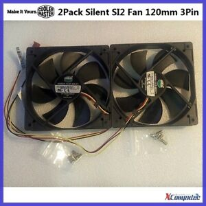 Coolermaster Silent SI2 120mm 3-Pin Case Cooling Fan 1200rpm 19dBA OEM 2-Pack
