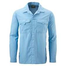 Kathmandu Kangsar Mens Long Sleeve Button Down Shirt Travel Hiking Top v4 Blue